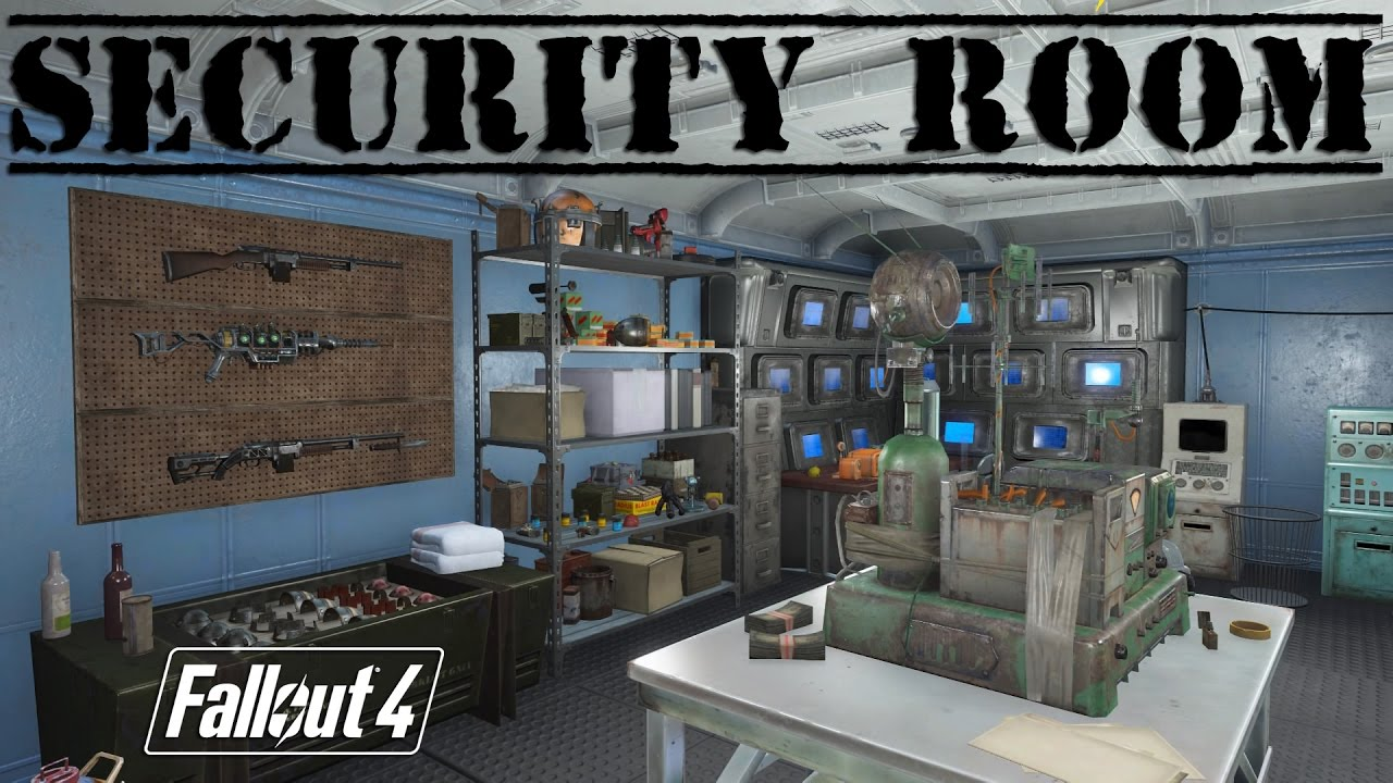 fallout 4 let 39 s build a security room at the castle ps4