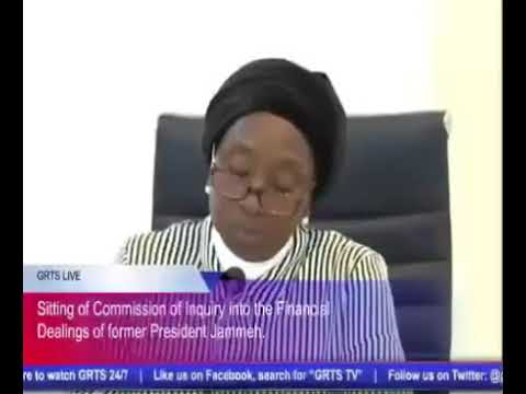 Gambia Commission Of Enquiry - Abdoulie Cham (Former Financial Controller Central Bank) Part 2