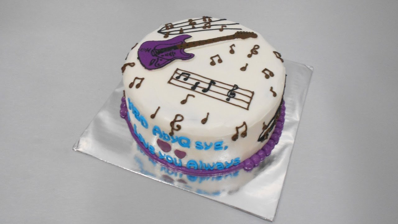 Guitar Cake Tutorial Easy - YouTube