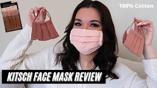 KITSCH FACE MASK REVIEW TRY ON DUSTY ROSE SET 100 COTTON Are They Better Than Skims Mask