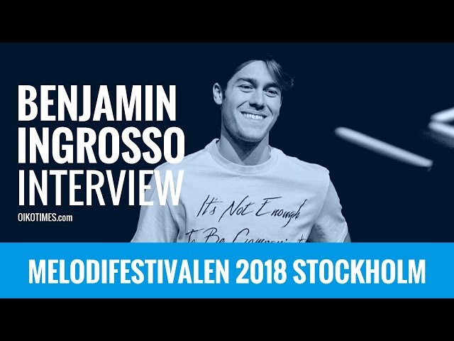 oikotimes.com: Interview with Benjamin Ingrosso in Stockholm / Melodifestivalen 2018