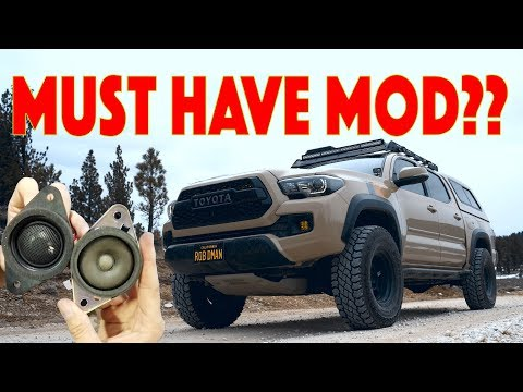 Cheap Toyota Tacoma Sound Upgrade! TWEETERS ! My 11 Year Old does DIY install then I review