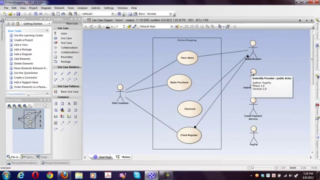 Hướng dẫn vẽ sơ đồ UML cơ bản với Enterprise Architect – Bài 2