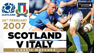 Italy Shock Scotland In Their First Away Win Classic Highlights 2007 Guinness Six Nations