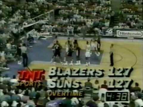 1992 NBA Playoffs - Portland at Phoenix, game four, Overtime part 1