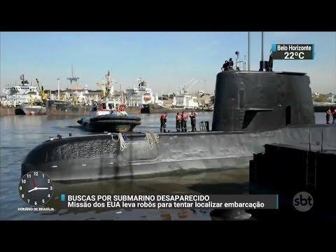 Robôs da Marinha dos EUA ajudam nas buscas por submarino argentino | SBT Brasil (21/11/17)