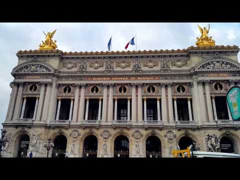 Paris, France : Place de l'Opera, Palais Garnier, InterContinental Paris Le Grand Hotel