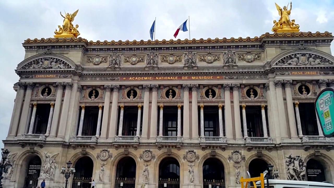 paris france place de l 39 opera palais garnier intercontinental paris le grand hotel youtube. Black Bedroom Furniture Sets. Home Design Ideas