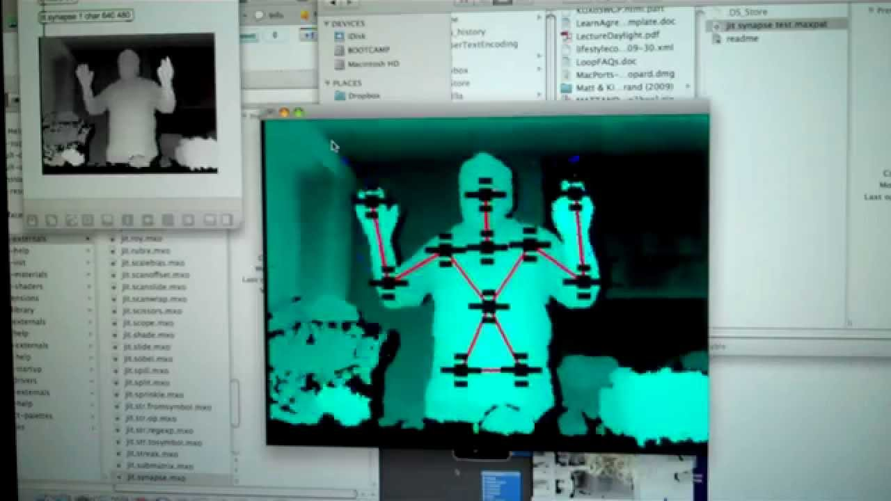 Kinect on the MAC - Synapse
