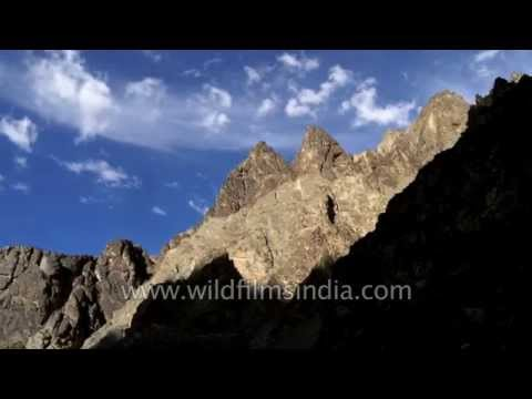 Mountains en route Lamayuru at Leh-Srinagar highway - Ladakh