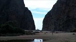 Guardia Civil Helicopter fly by in Torrent de Pareis