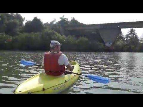 adventure: canoe down talipona river / arabian sea + tuk tuk palolem patnem south goa