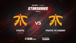 [EN] fnatic vs fnatic Academy, map 1 cobblestone, SL i-League StarSeries Season 3 Europe Qualifier