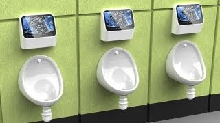 Urinal video games in the UK and Japan