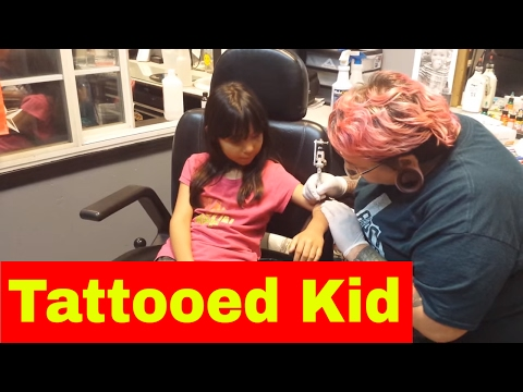 Little Girl Gets a Tattoo