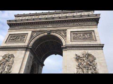 Arc de Triomphe and Champs Elysées