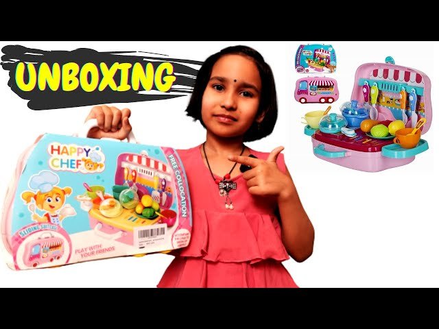 Pretend Play Carry Along Kitchen Food Play Set / UNBOXING / #LearnWithPari #Aadyansh
