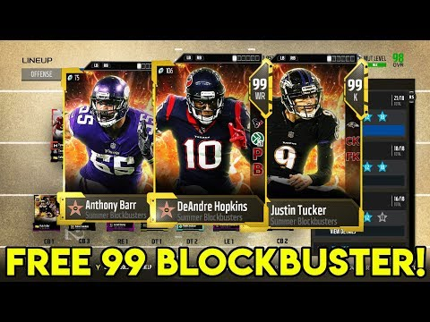 Get a *FREE* Blockbuster 99 Overall! These Cards are Insane! Madden 18 Ultimate Team