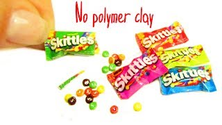 DIY Miniature Skittles Candy Bag