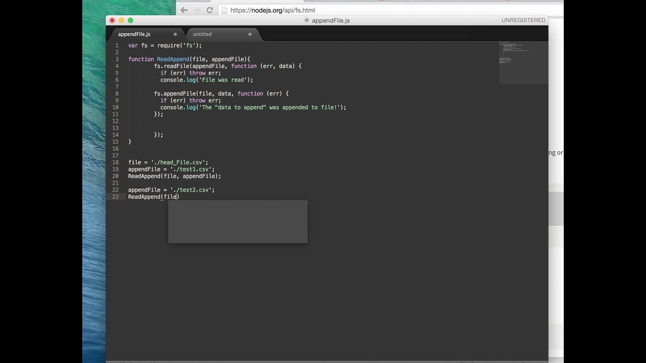 How To: Create a Script to Append Files Together Using NodeJS