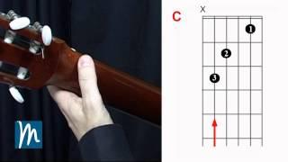 Acordes de Guitarra - Enlace de acordes Am - C