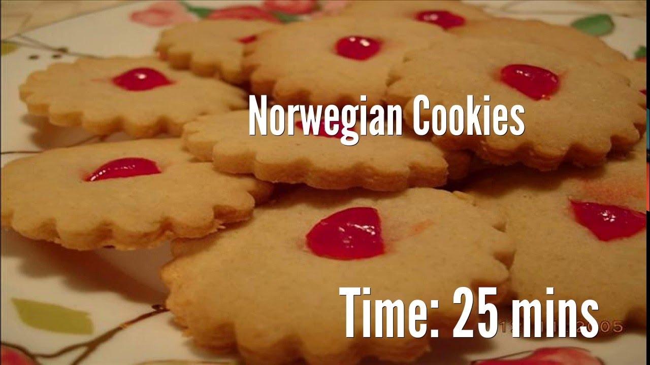 Norwegian Cookies Recipe - YouTube