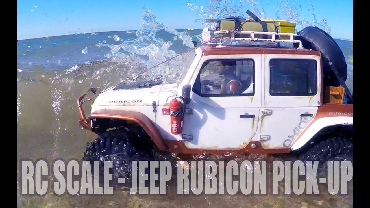 rc crawler axial scx10 jeep rubicon pick up homemade beach run youtube. Black Bedroom Furniture Sets. Home Design Ideas