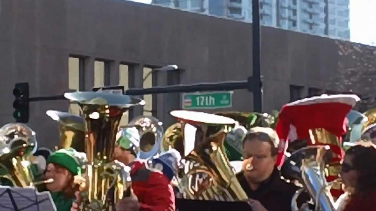 Tuba Christmas plays Jingle Bells in Denver Colorado on 12-23-2012 ...