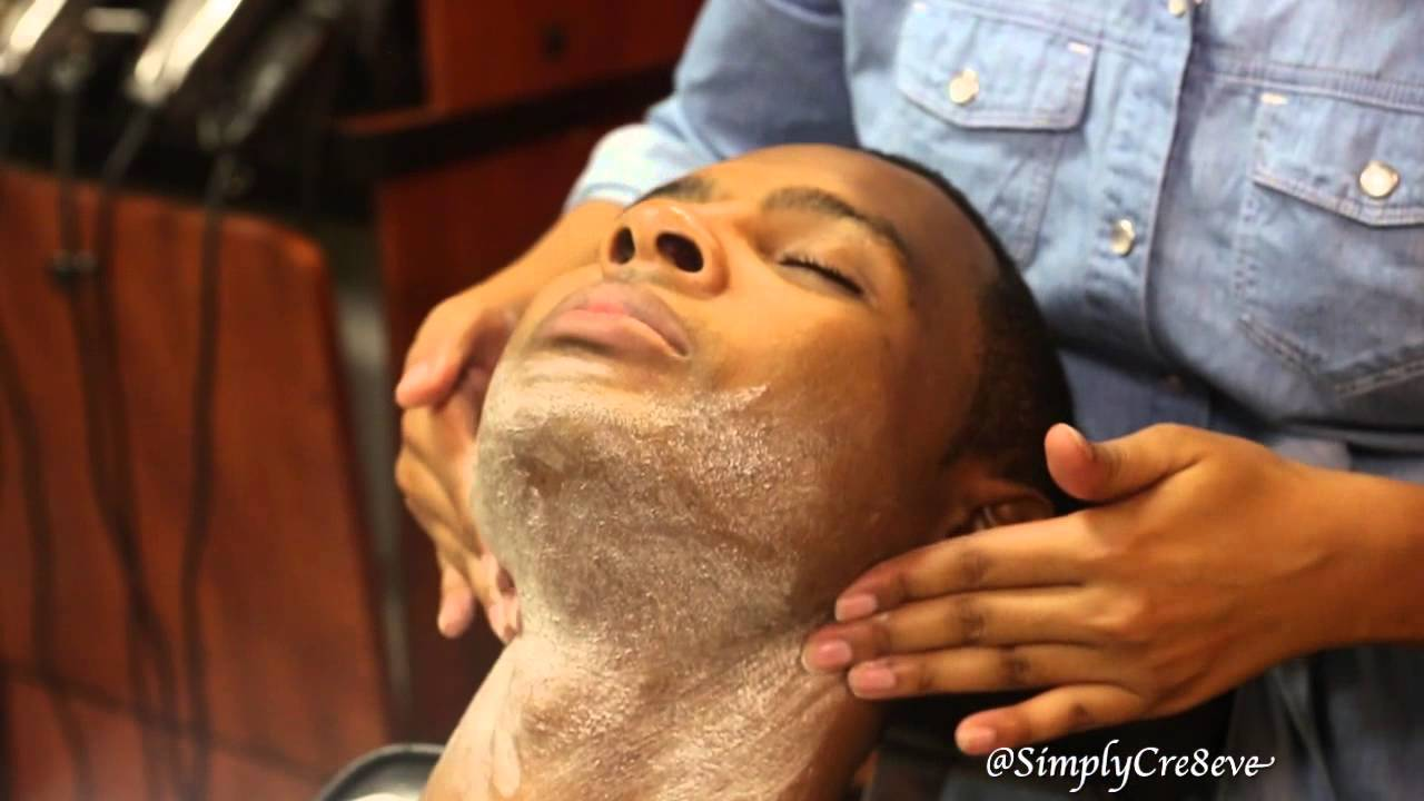 facials on the dudes face