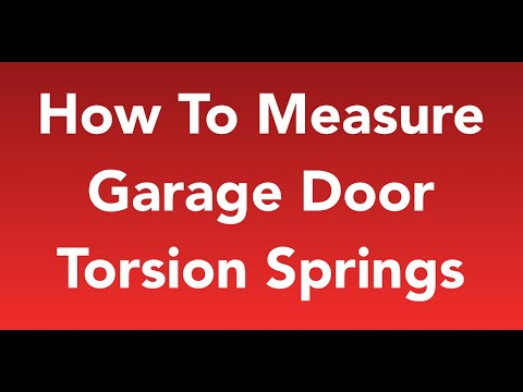 How to Measure Garage Door Springs *EASY* ► 2018 UPDATE