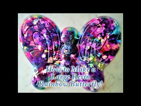 How to Make a Resin Rainbow Butterfly!