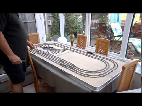 Modelling Railway Train Track Plans -Super Ideas For Fleischmann N Gauge Folding Layout