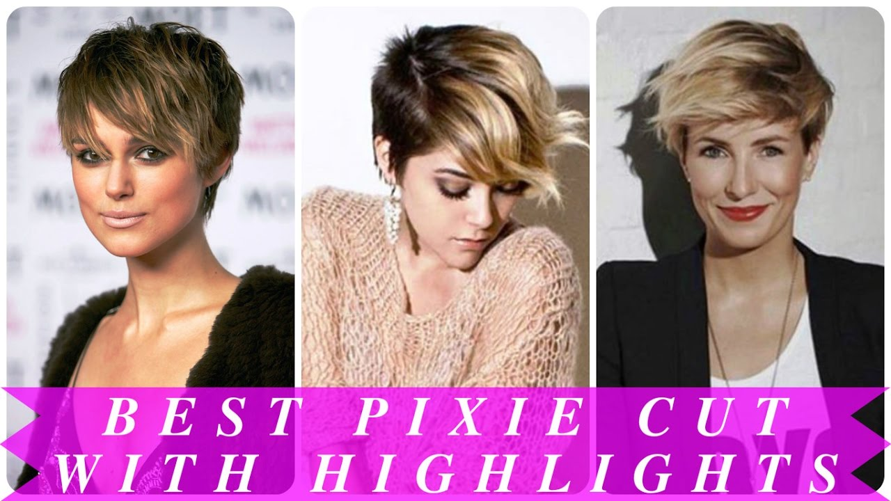 Best Pixie Cut With Highlights Youtube