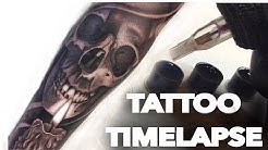 TATTOO TIME LAPSE / SKULL AND CANDLE / CHRISSY LEE