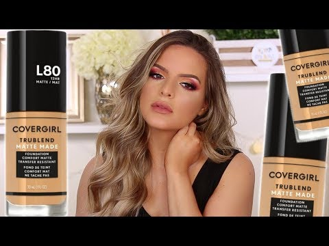 NEW COVERGIRL TRUBLEND MATTE MADE FOUNDATION! HIT OR HOT MESS? WEAR TEST! | Casey Holmes