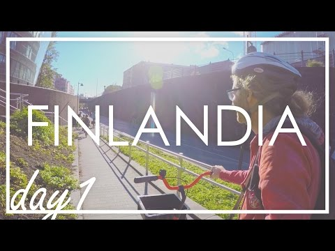 HELSINKI IN BICICLETTA! - Estate in Finlandia day1 [ENG subs]