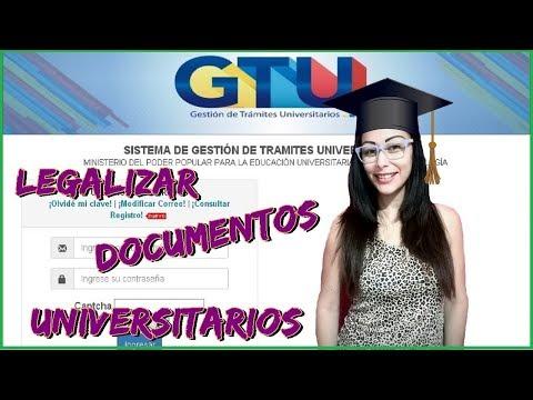 solicitar cita para legalizar documentos universitarios en Venezuela GTU 2018 | ALGADINA