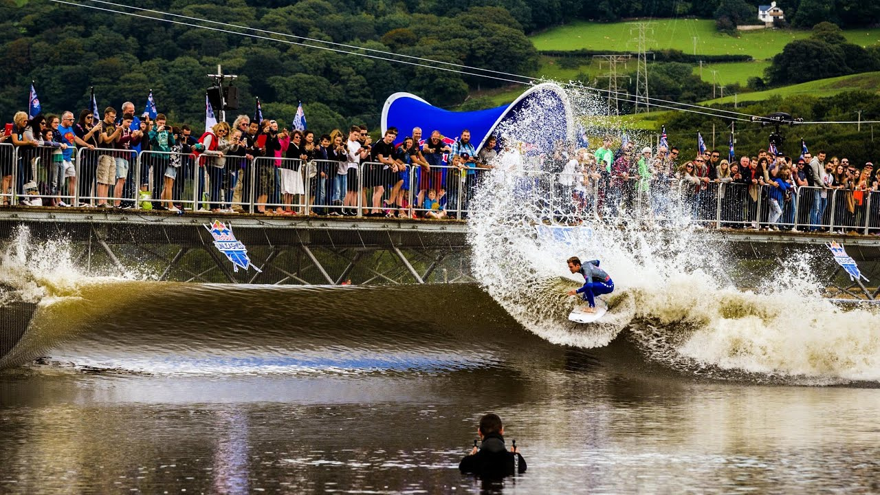 Pro Surf Contest in a Wave Pool Red Bull Unleashed