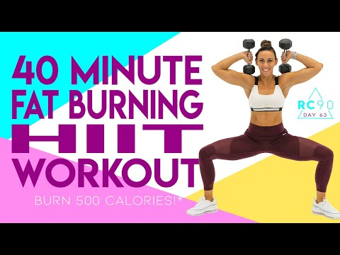 40 Minute Fat Burning HIIT Bootcamp 🔥Burn 500 Calories!* 🔥  Day 63 | RC90