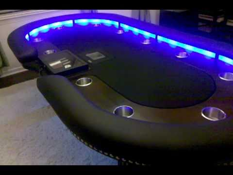 Custom Lighted Poker Table - YouTube