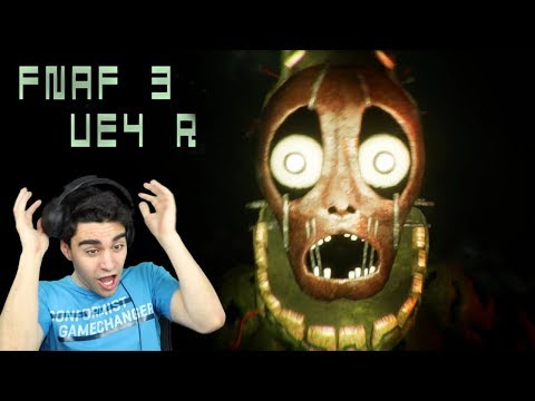 SPRINGTRAP IS A REAL NIGHTMARE IN THIS GAME!! - Five Nights at Freddy's 3 (UNREAL ENGINE 4 VERSION!)