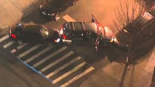 AERIAL VIDEO: NYPD Cop Shot in Brooklyn 3/8/2016