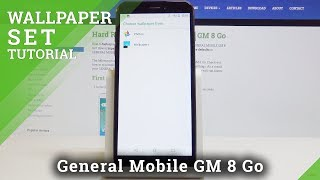 How to Change Wallpaper on GENERAL MOBILE GM 8 Go - Choose Display Background