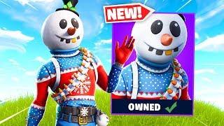 NEW SNOWMAN Skin Gameplay in Fortnite..