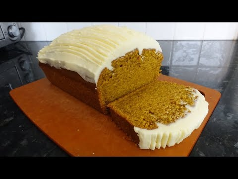 Pumpkin Loaf Cake & Cream Cheese Frosting