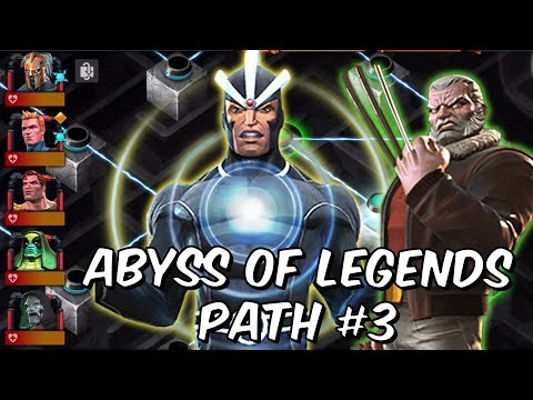 Abyss of Legends Path #3 - Havok, Old Man Logan, Red Skull, Karnak - Marvel Contest of Champions