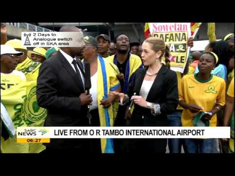 Arrival of African Champions Mamelodi Sundowns