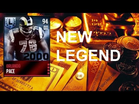 Orlando Pace new legend madden mobile and Peter boulware