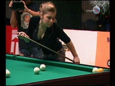 Мисс Бильярд-2009. 1/4 финала. Крайнова - Ковальчук.