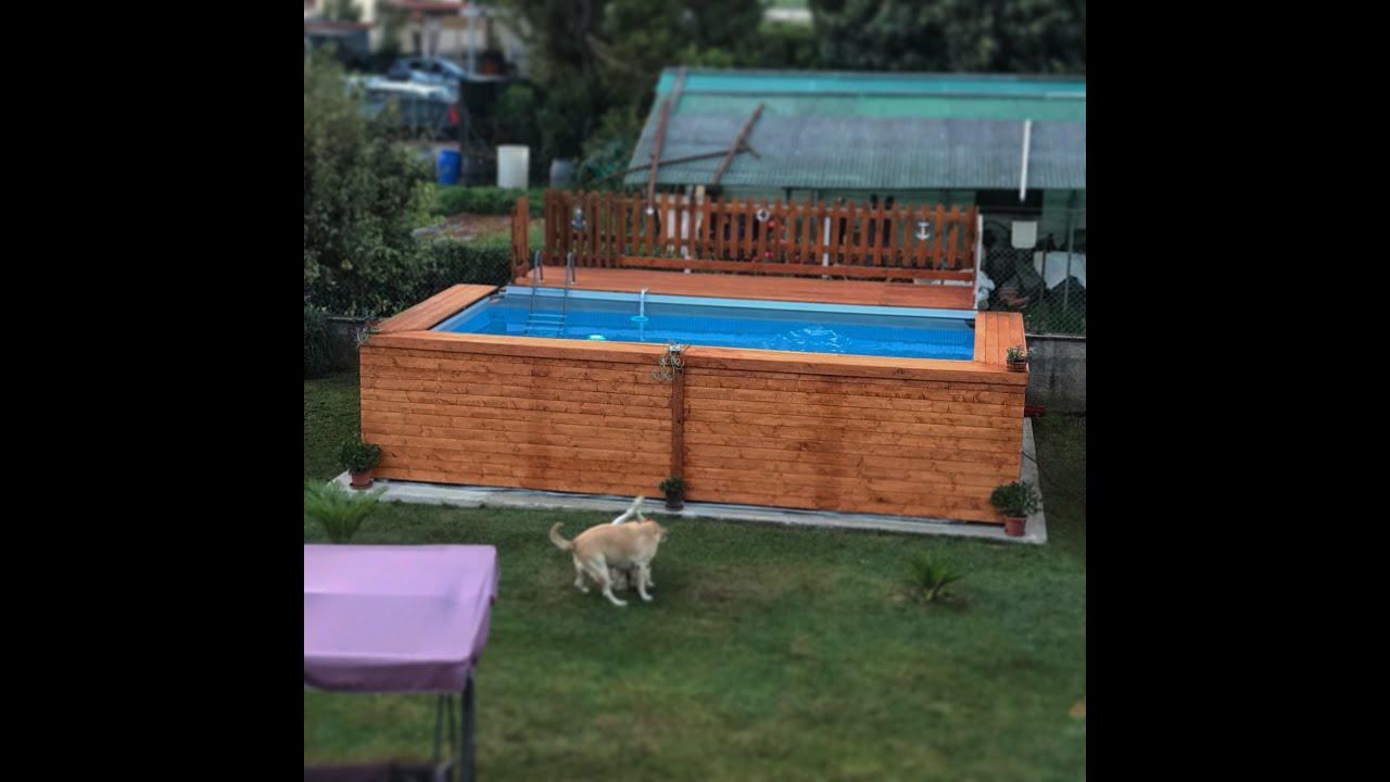 Piscina Da Esterno Fuori Terra fai da te: rivestimento piscina intex fuori terra